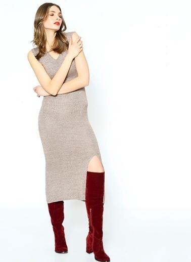 Somedays Lovin Uzun Dar Triko Elbise Renkli